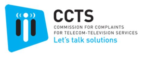 CCTS Commission for Complaints for Telecom - Television Services
