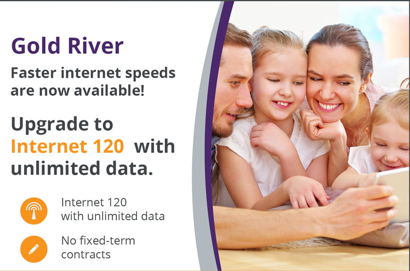 Increased speeds are coming for Gold River!