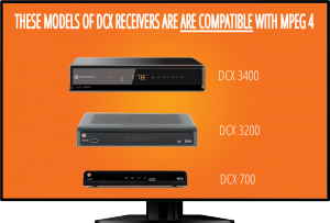 DCX receivers are compatible with MPEG4