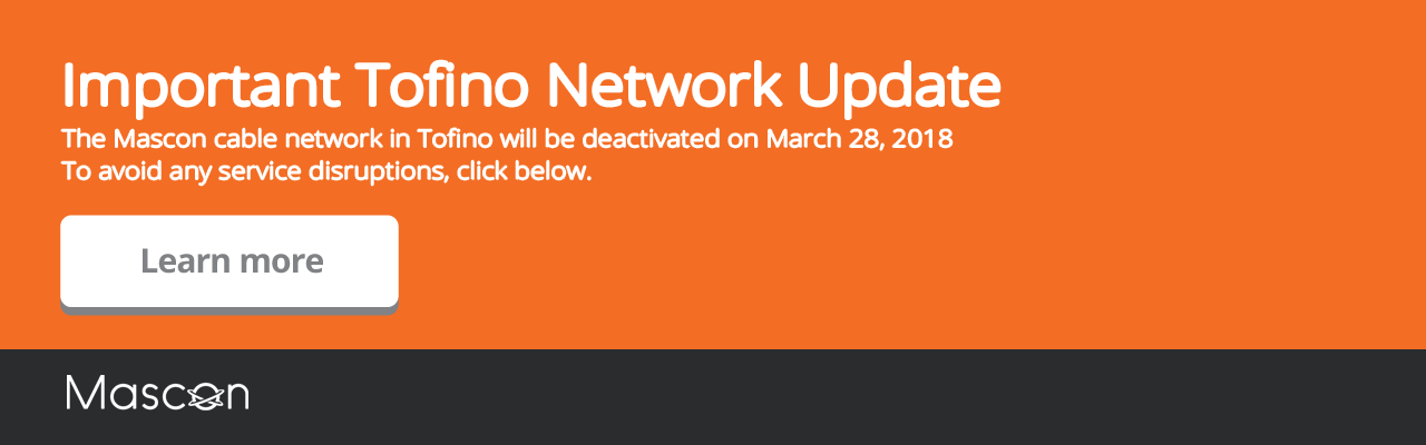 Important Tofino Network Update